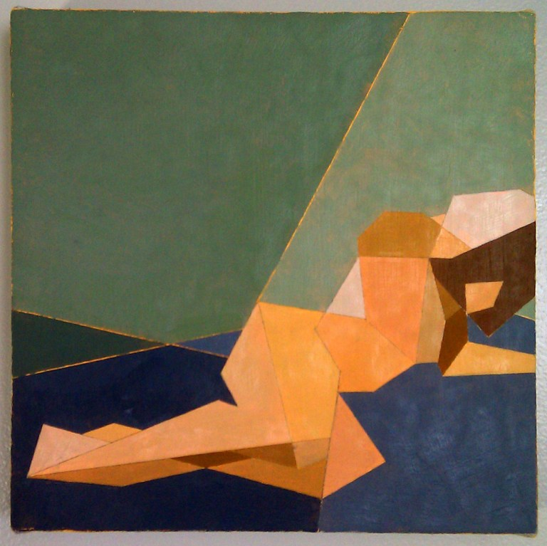 "Reclining Nude IV, Oil on canvas 12""x12"""