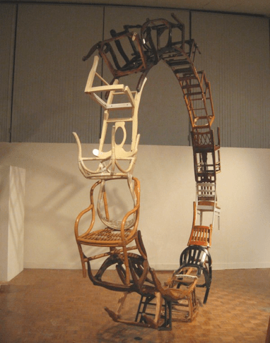 """By Themselves And Of Themselves,"" 2008  Found Wood 192""h 192""w 24""d"