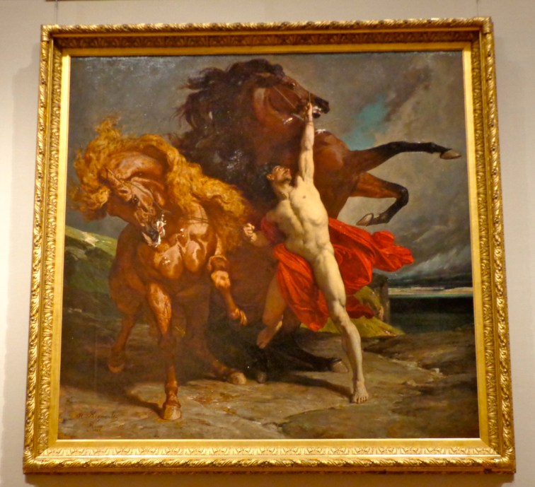 "Alexandre-Georges-Henri Regnault, ""Automedon with the Horses of Achilles,"" 1868"