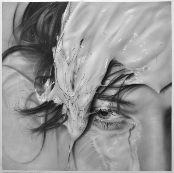 "Washed Out, graphite on paper, 50 "" x 50 """