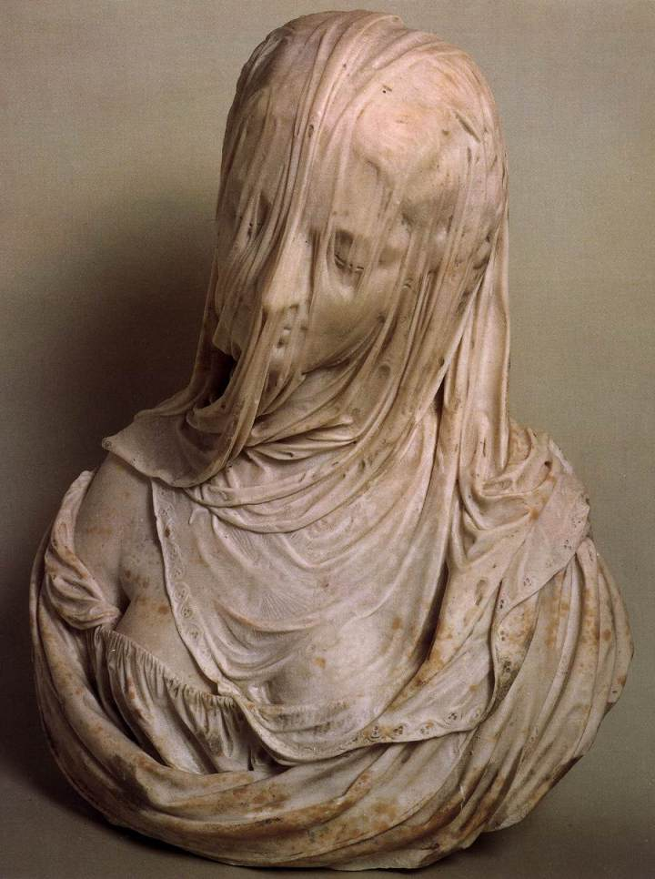 Bust of a Veiled Woman (Puritas), 1717-25 Marble Museo del Settecento Veneziano, Ca' Rezzonico, Venice