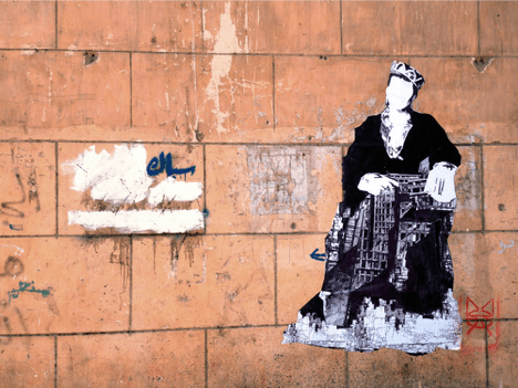 The Mozza Wheatpaste Suburb of Cairo, 2014