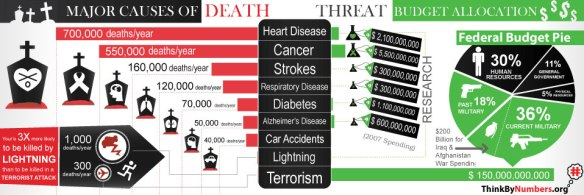 Infographic Showing Disproportionate (Imbalance) US Spending to Combat Terrorism