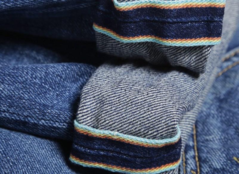 Edwin ED 80 63 Rainbow Selvage Denim - G4 -Slim Tapered Fit - Blue Wash
