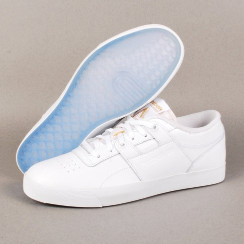 Palace x Reebok Workout Low Clean FVS Skate Shoes - White Ice 4274e682f