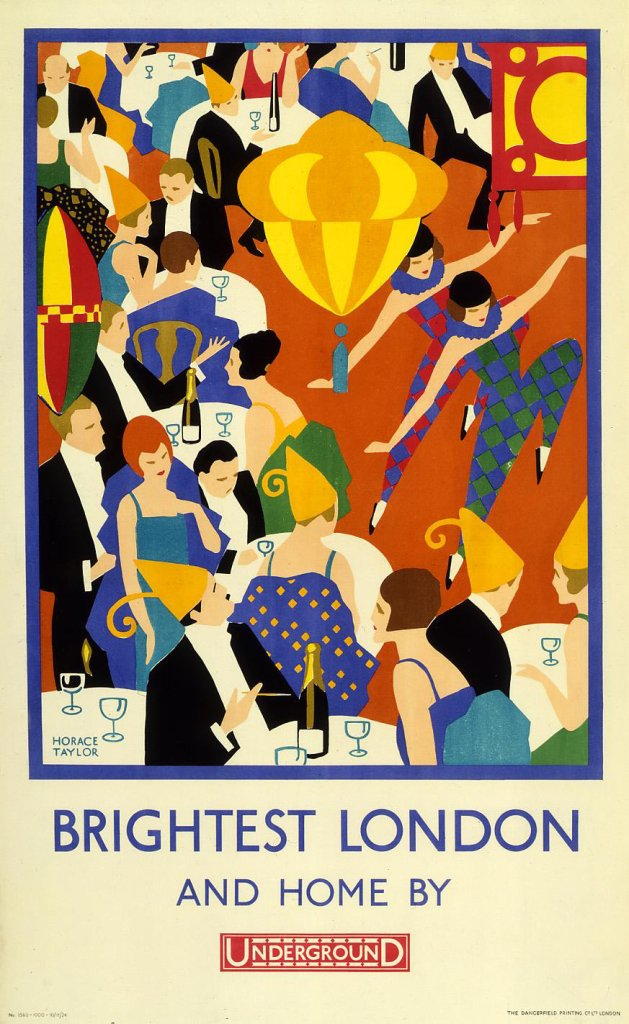 Brightest London and home by-Underground - Horace Taylor (1924)