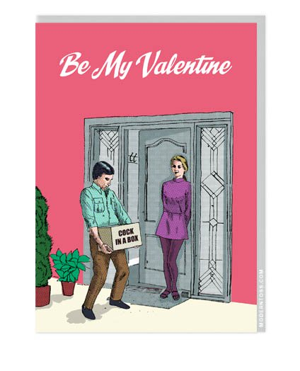 Modern Toss Card - Be My Valentine