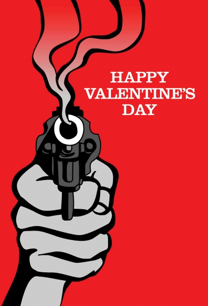Smoking Gun Valentines Card