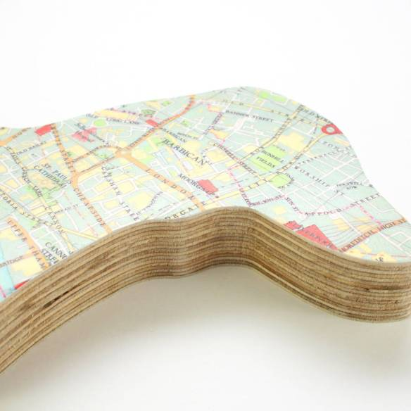 Wooden map buttons from bombus