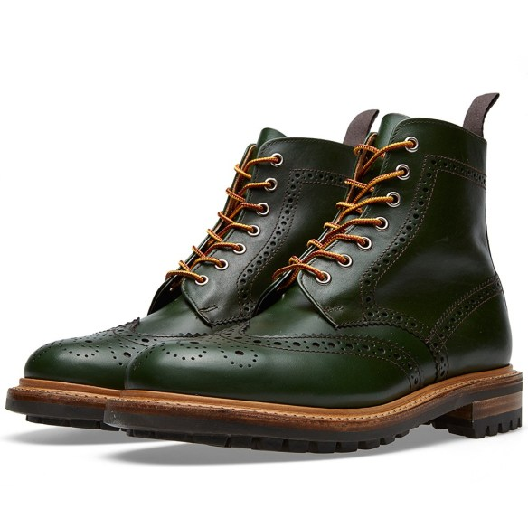 Commando Sole Brogue Boots