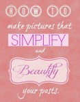 simplify and beautify your posts by using pictures you make!
