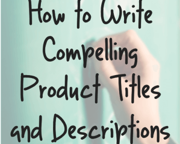 How to write product titles and descriptions