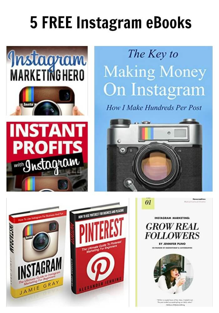5 FREE Instagram eBooks