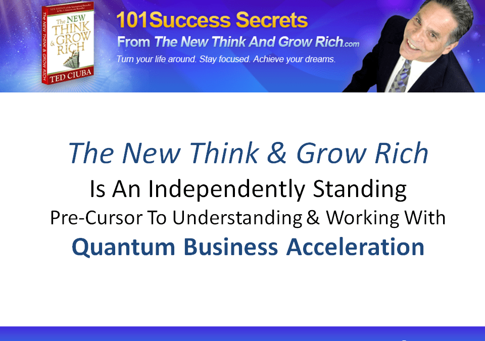 An Independently Standing Pre-Cursor To Understanding And Working With Quantum Business Acceleration