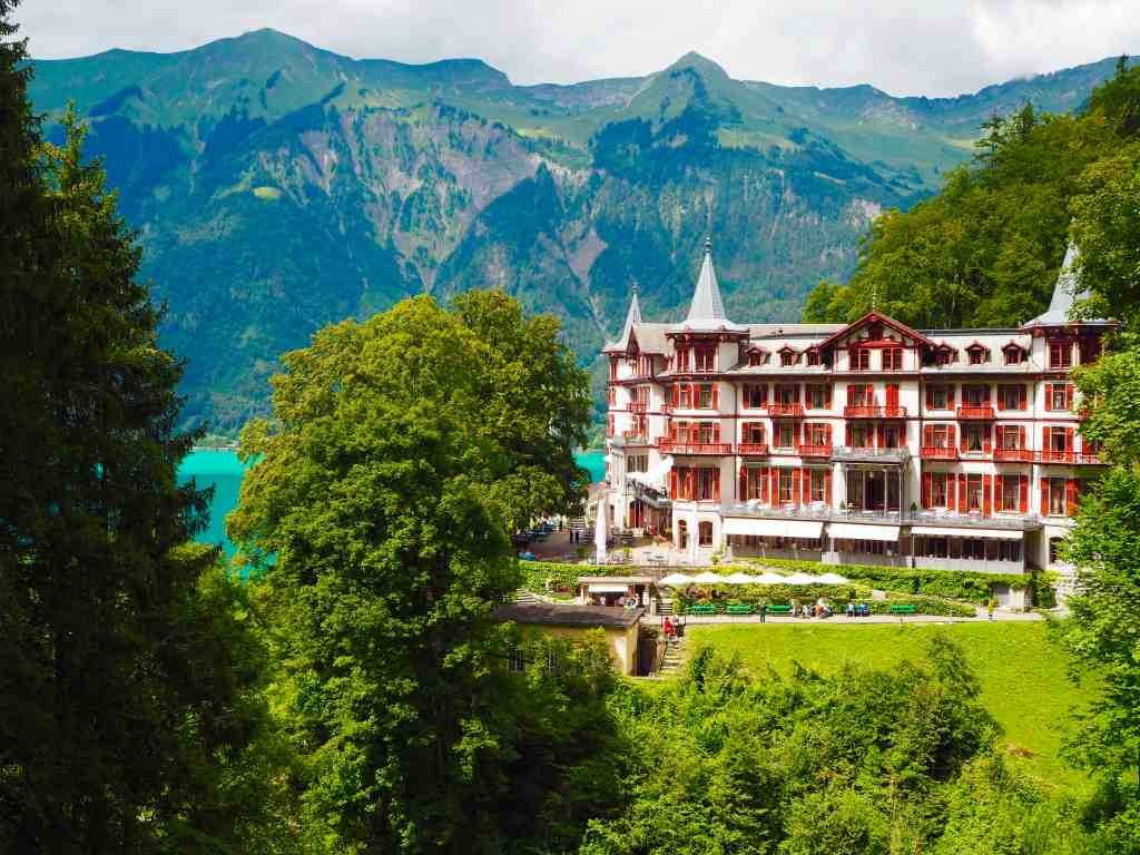 CHECKING IN AT THE GRAND HOTEL GIESSBACH