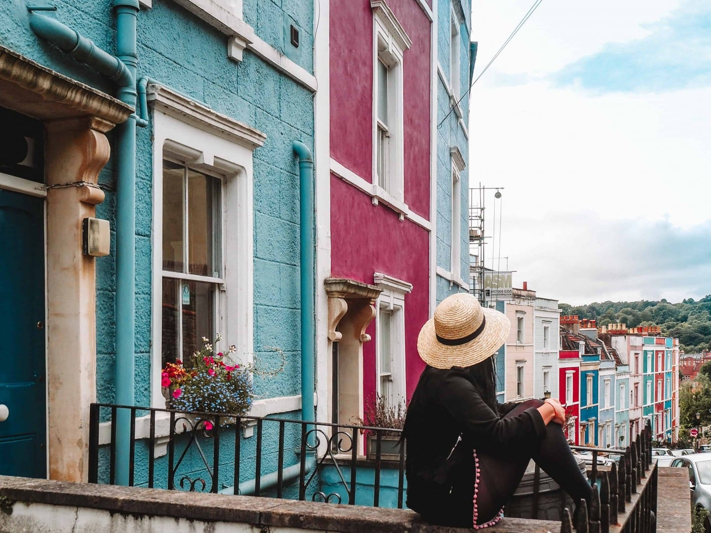 find colourful houses bristol