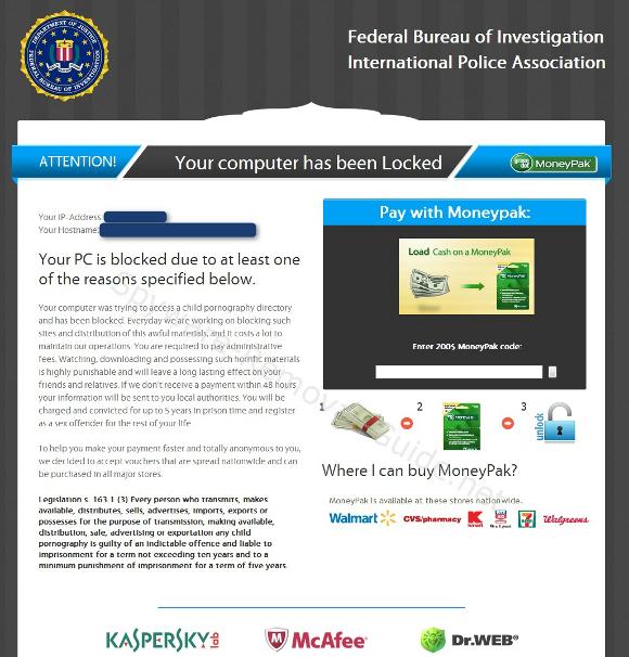 FBI Bureau of Investigation International Police Association Virus