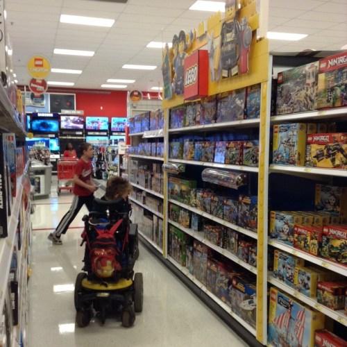 target lego aisle