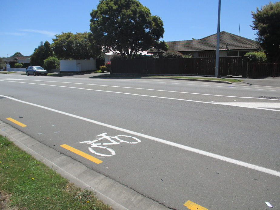 bike lane christchurch