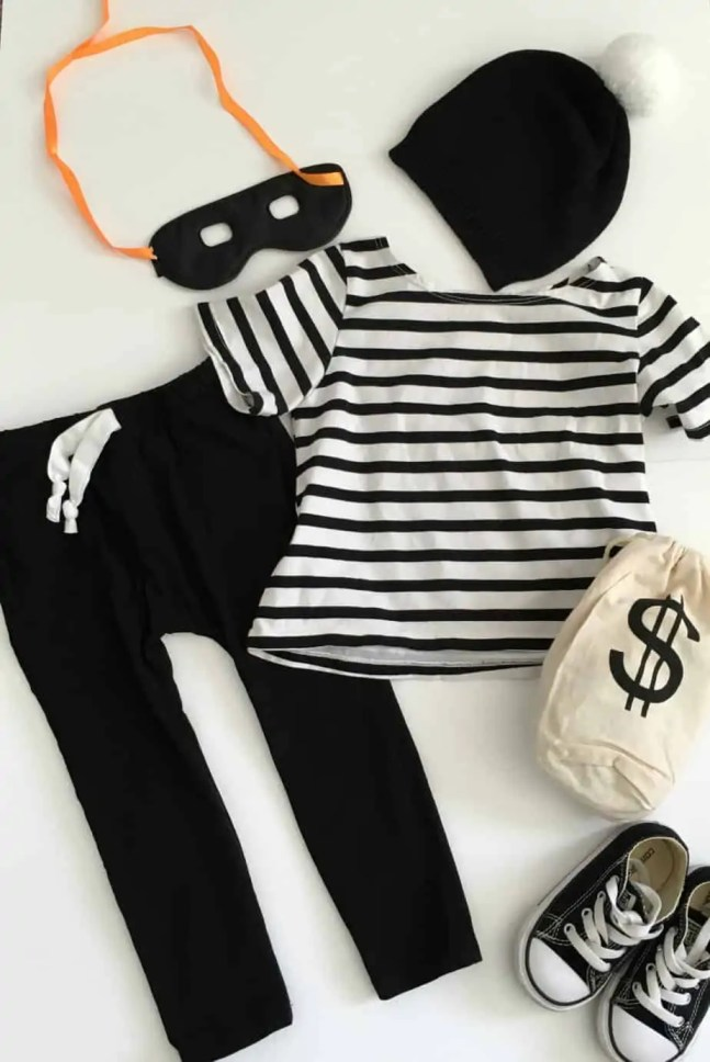 DIY Toddler Bank Robber Costume