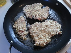 steaks in the frying pan