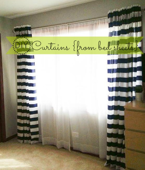 How to Make Back Tab Curtains {DIY from bed sheets}
