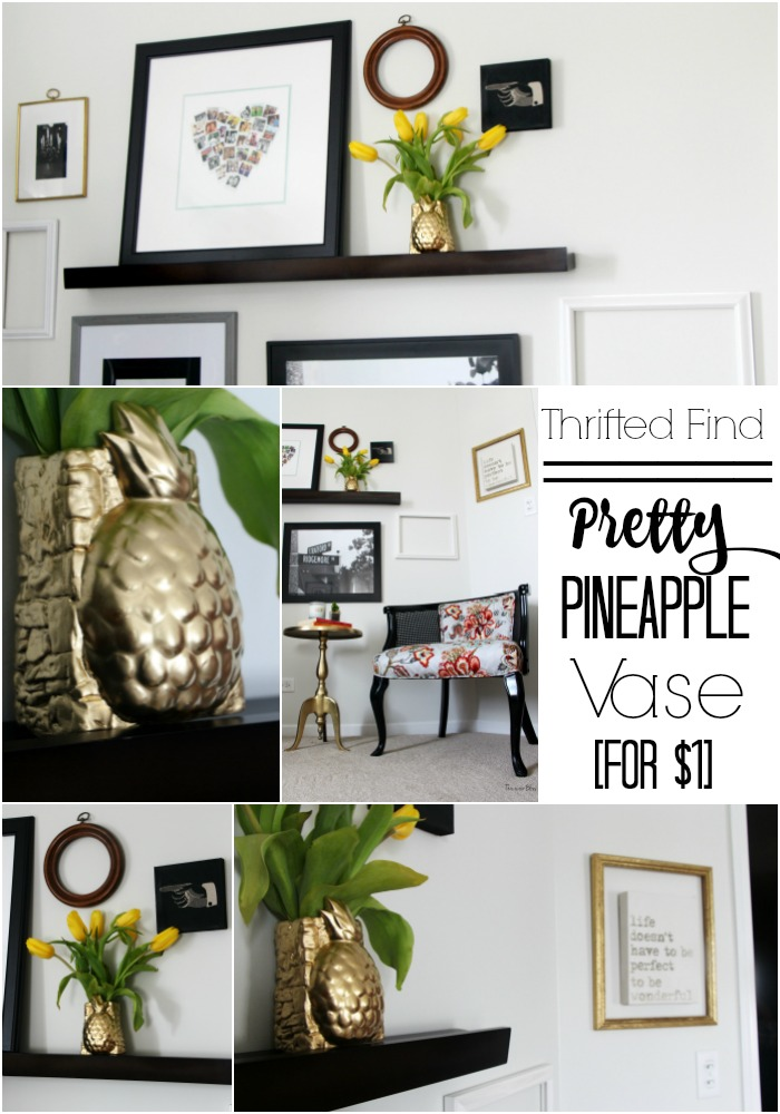 It's so Ugly It's cool thrift challenge | Pretty Pineapple vase || This is our Bliss