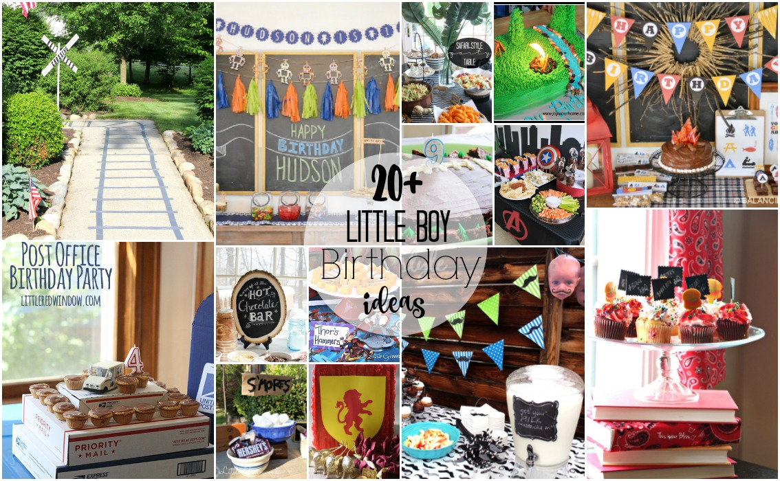 20+ Little Boy Birthday Party Ideas
