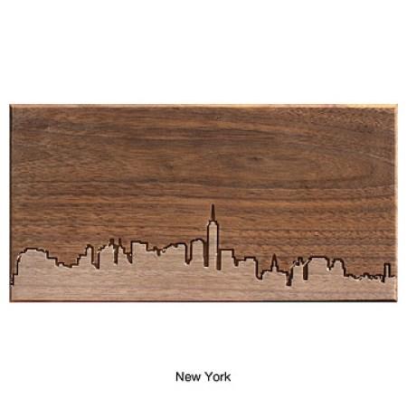 wooden city skyline