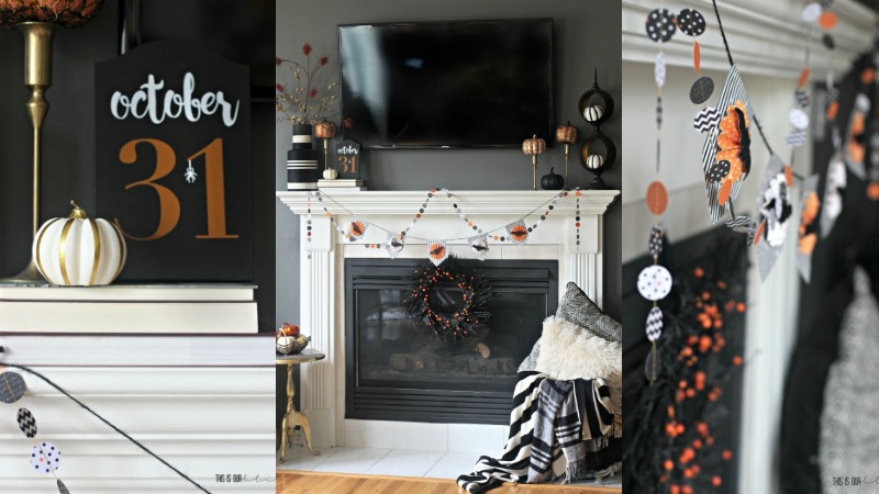[Last-Minute Decorating] Simple Halloween Mantel