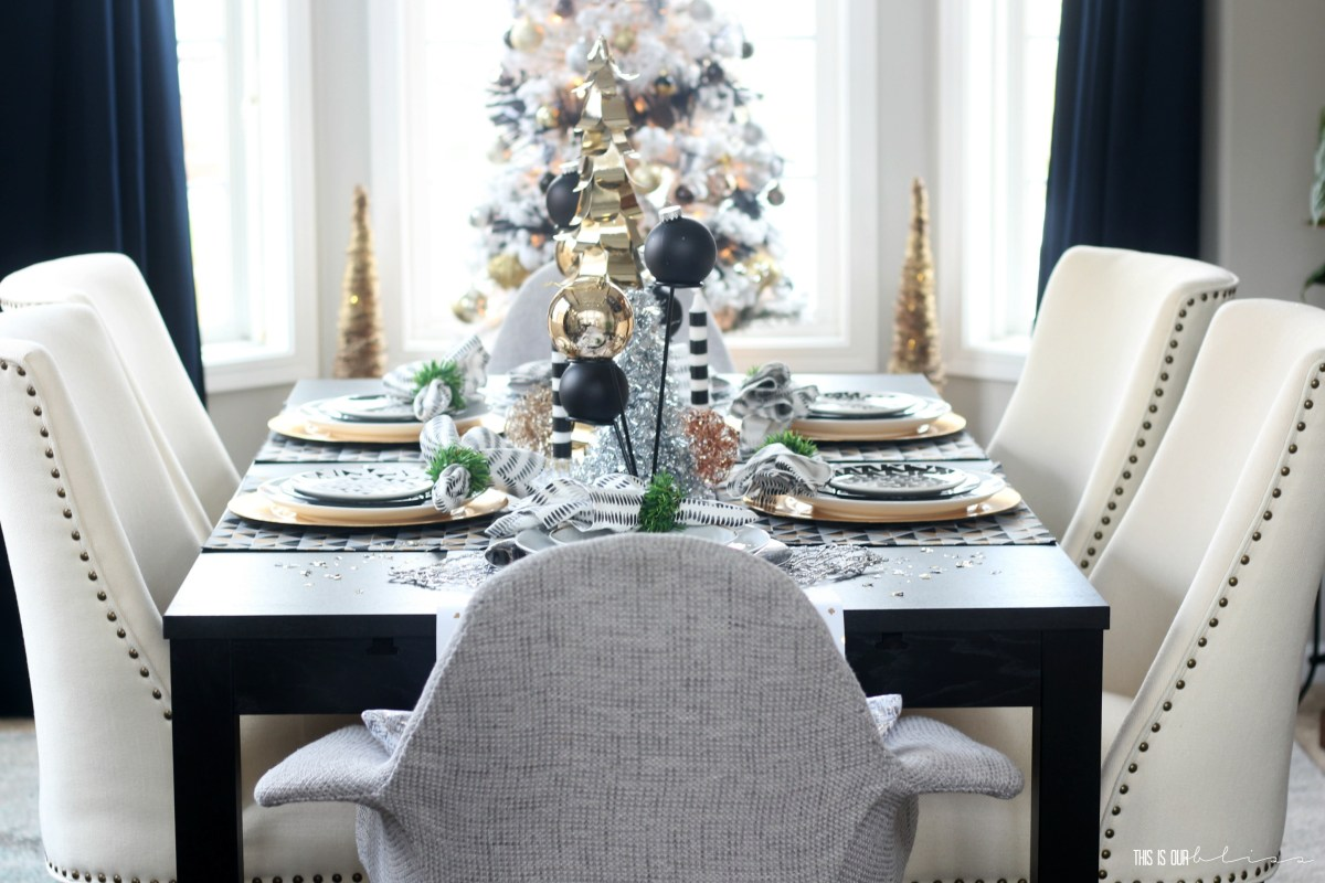 A Merry & Metallic Christmas Home | The Dining Room | Winter Eclectic Home Tour 2016