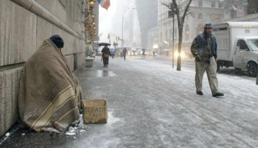 homeless winter
