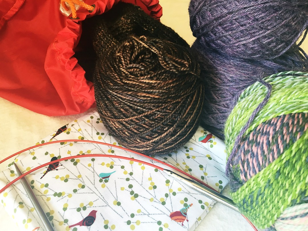 Getting ready to travel with my knitting! One can never pack too much yarn.