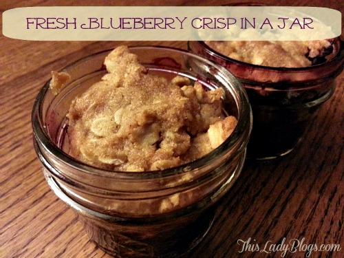 Fresh Blueberry Crisp in a Jar Recipe