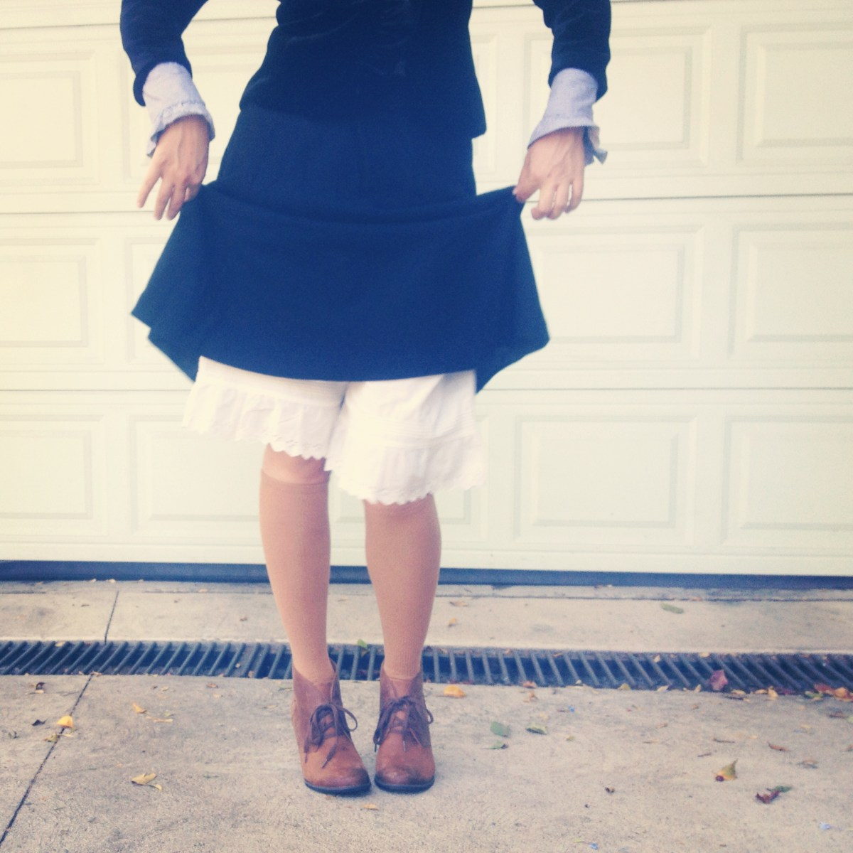 you forgot your skirt, amelia bloomer! / my DIY historical halloween costume