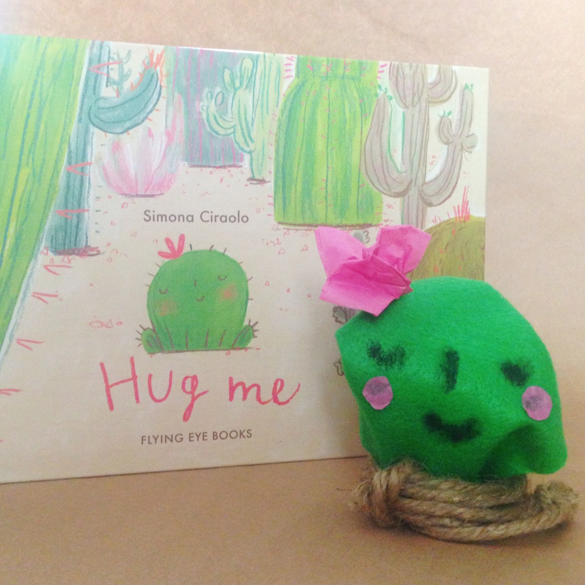 hug me + cute little cactus craft
