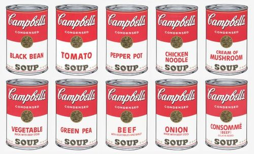 Andy-Warhol-Campbells-Soup-Cans1962