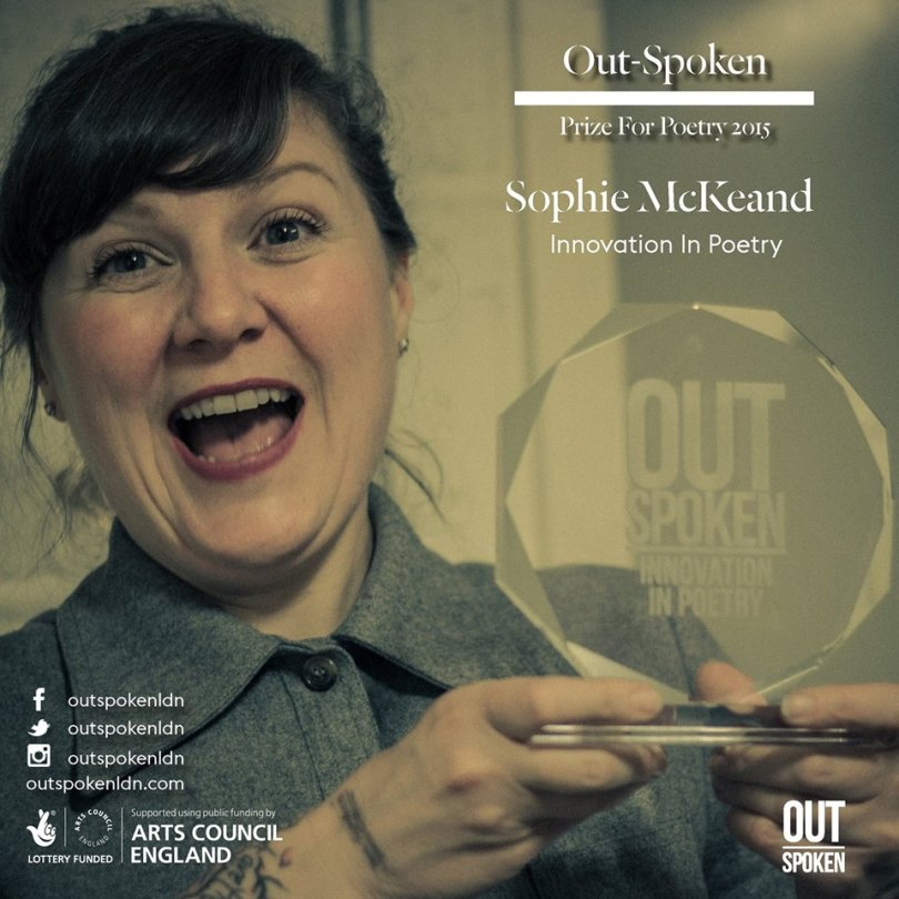 Sophie Out Spoken awards 2015