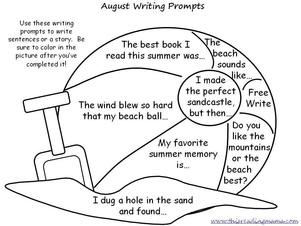FREE August Writing Prompts
