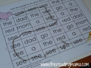sight word maze with see