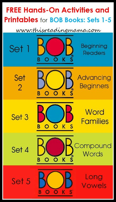 FREE BOB Books Printables for Sets 1-5 | This Reading Mama