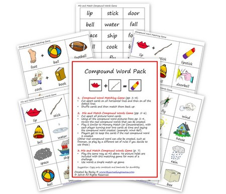 FREE Compound Word Pack   This Reading Mama