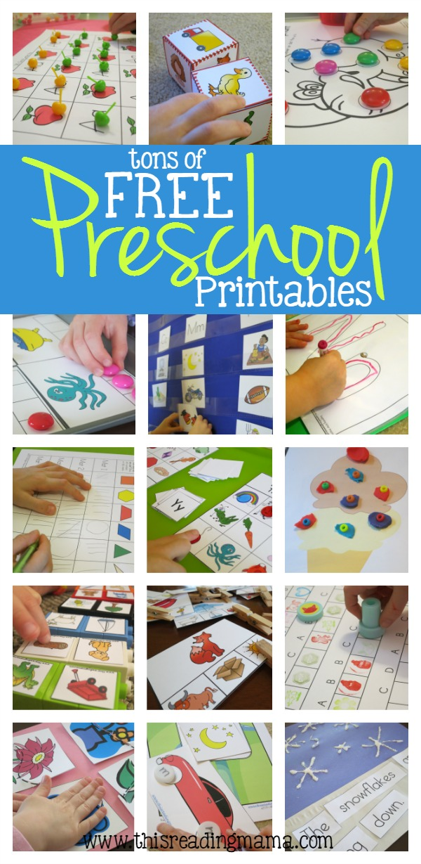 Tons of FREE Preschool Printables - This Reading Mama