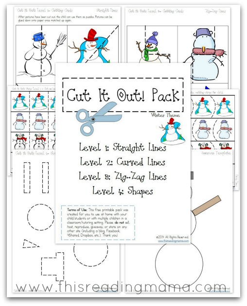 FREE Cutting Practice Pack {Winter Cut it Out!}   This Reading Mama
