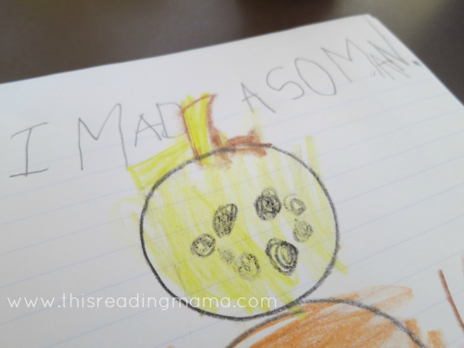 Writing about our playdough snowmen | This Reading Mama