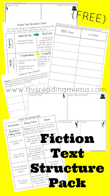 FREE Fiction Text Structure Printable Pack | This Reading Mama
