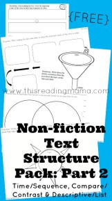 FREE Non-Fiction Text Structure Pack: Part 2