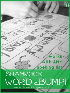 Shamrock Sight Word Word Game - WordBump