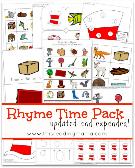 FREE Rhyme Time Pack from This Reading Mama