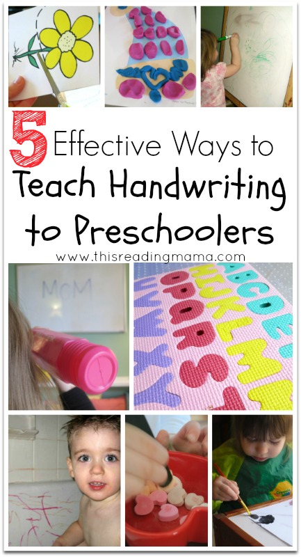 5 Effective Ways to Teach Handwriting to Preschoolers | This Reading Mama